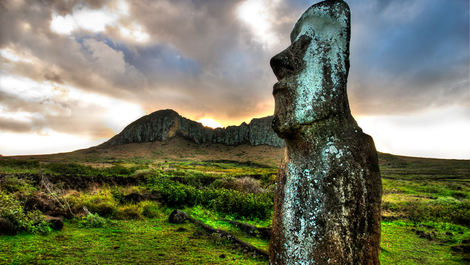The Traveling Moai, Rapa Nui (Easter Island) near Rano Raraku